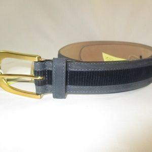 Escada Accessories - Vtg. Escada Sport Blue Corduroy Leather Belt 36